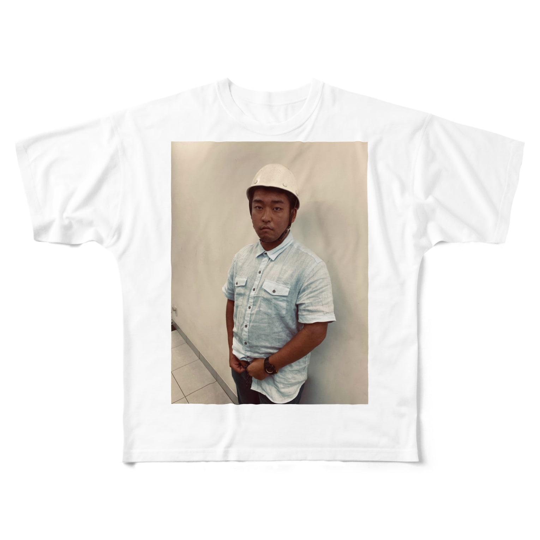 Pine_のヘルメットしょういち Full graphic T-shirts