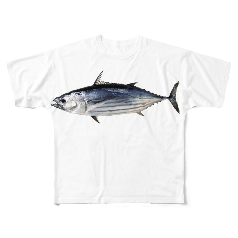 AAAstarsの鰹 Full graphic T-shirts
