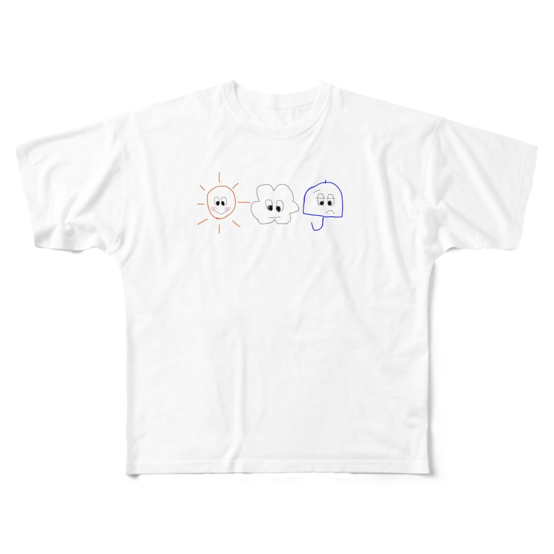 8のおてんききょうだい Full graphic T-shirts