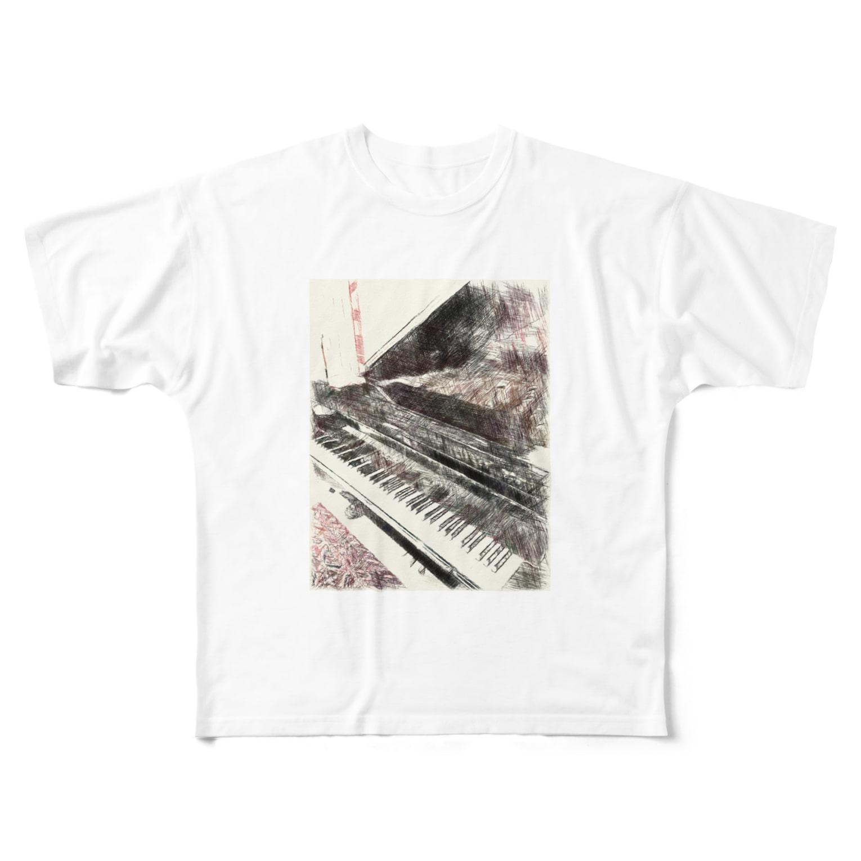 Lost'knotの吾輩ノ~オトモダチ~ Full graphic T-shirts