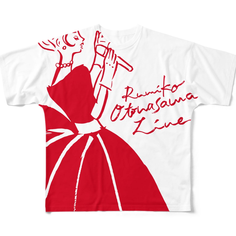 megumiillustrationのOtonasama Live T フルグラフィックTシャツ