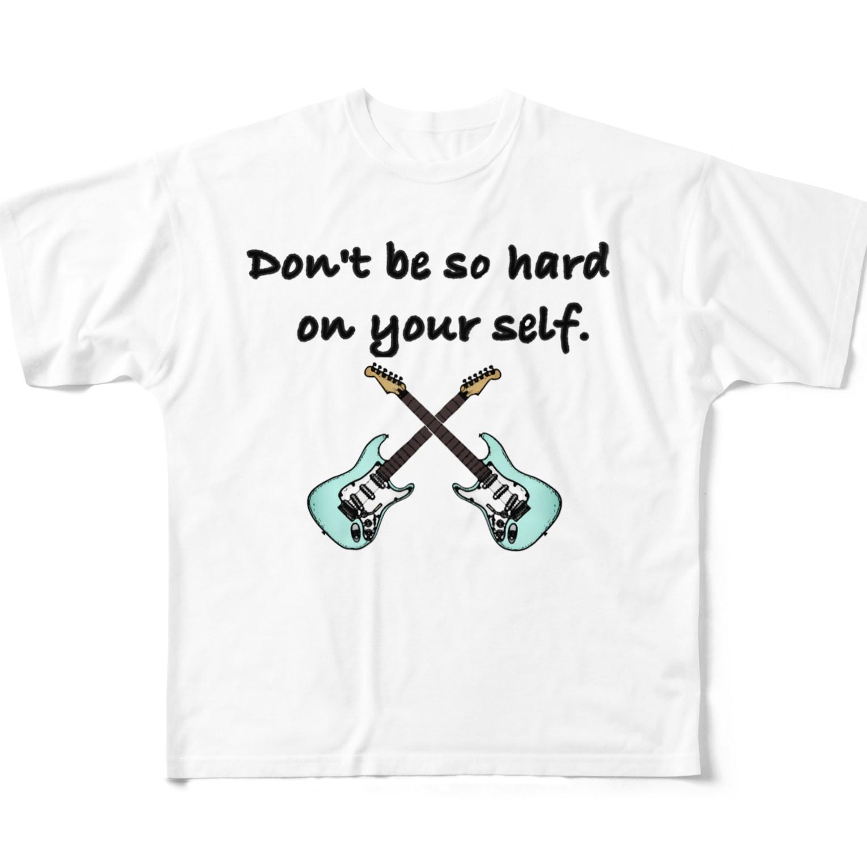Suzuki Satomi イラストショップの気楽に行こうぜ Full graphic T-shirts