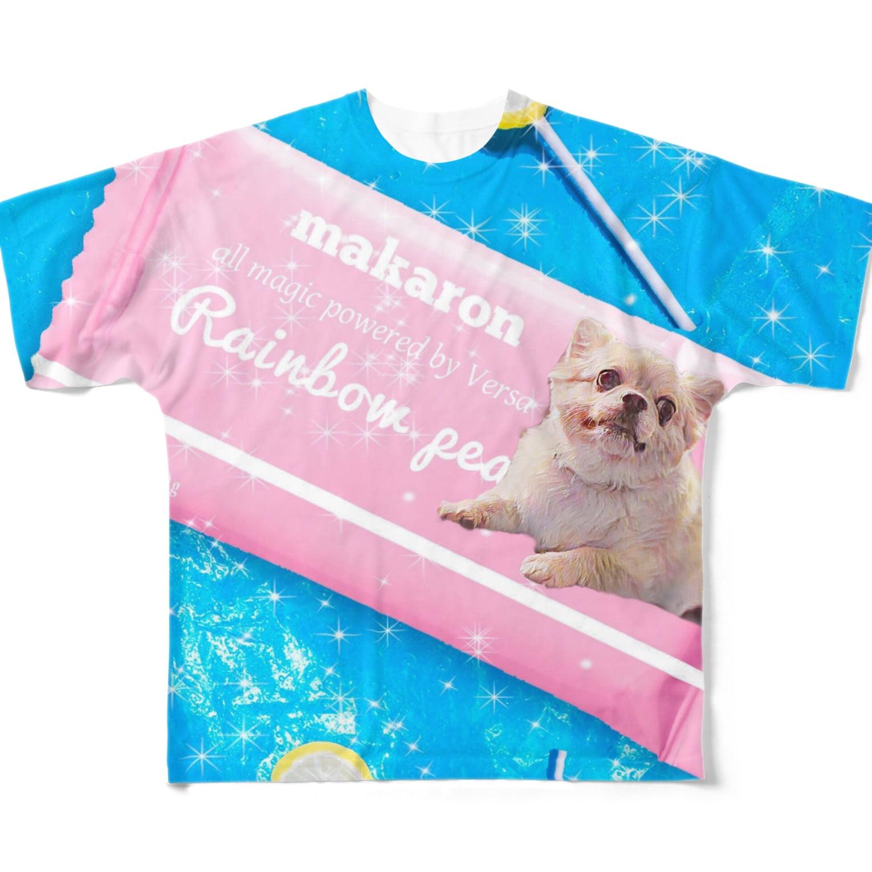 tinamagicalのmacaron Full graphic T-shirts