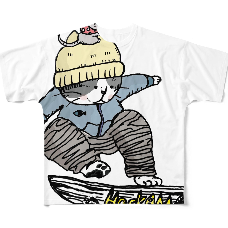 ほっかむねこ屋@9/3−9 東急ハンズ池袋1Fのちゃらねこ フルグラフィックTシャツ