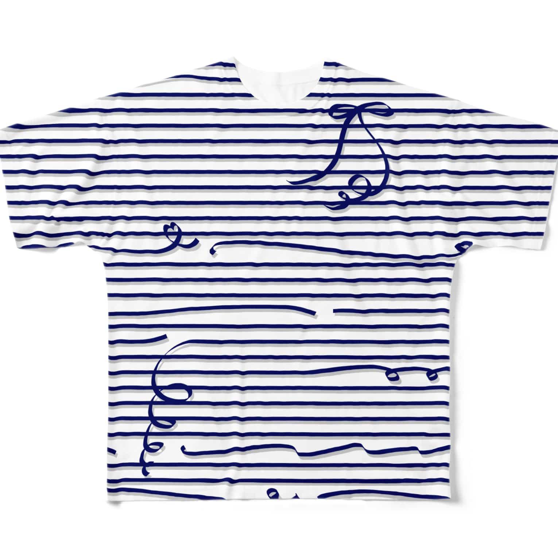 dizzyのNavy Stripes フルグラフィックTシャツ