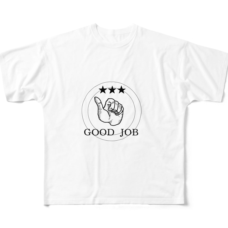 rokugatsunoumiのGOOD JOB Full graphic T-shirts