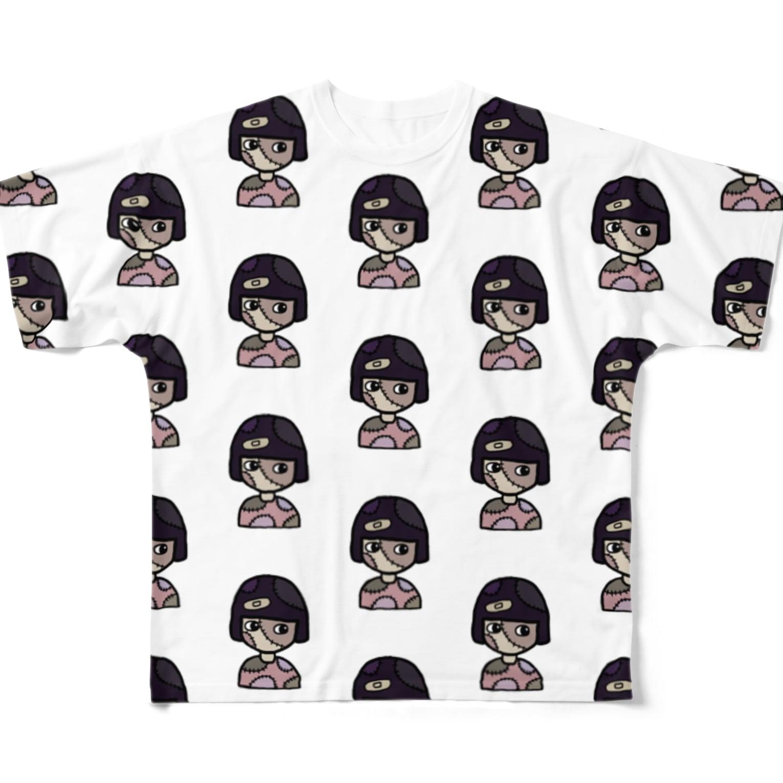 ®︎ik° 絵とかイラスト のokappa zombie Full graphic T-shirts
