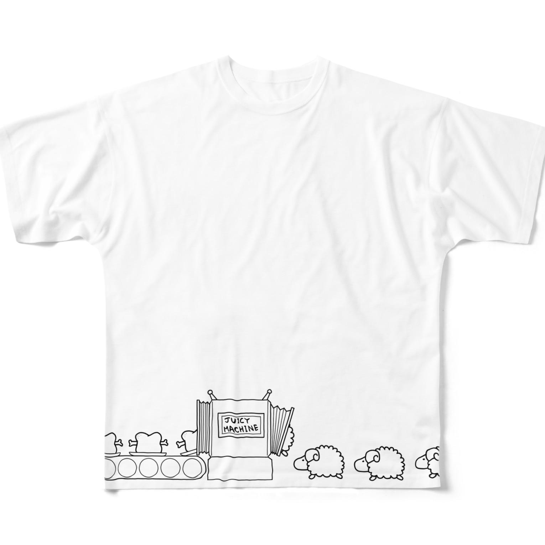 フロシキのジューシーマシーン Full graphic T-shirts