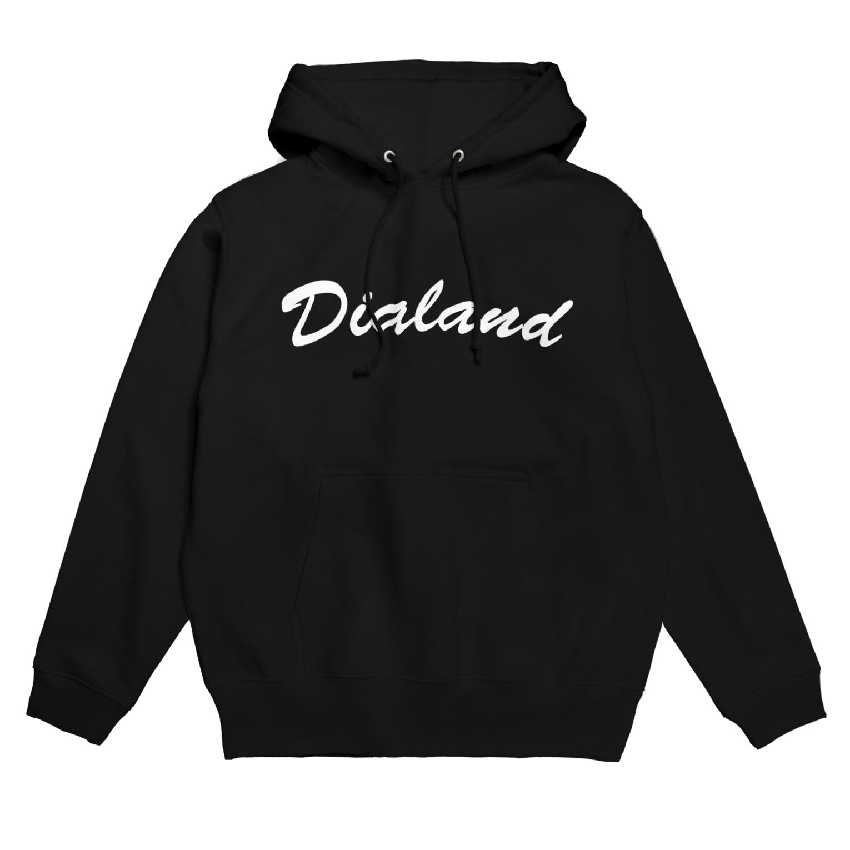 DIALAND LOVERSのTEAM DIALAND WHITE Hoodies