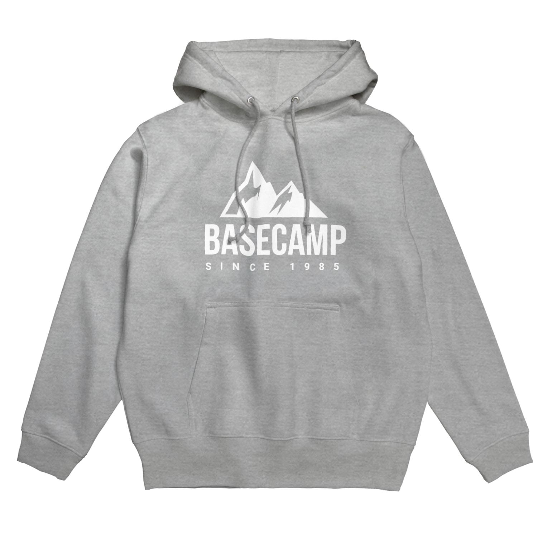 BASE-CAMPのBASE MOUNTAIN 03 WHITE Hoodies
