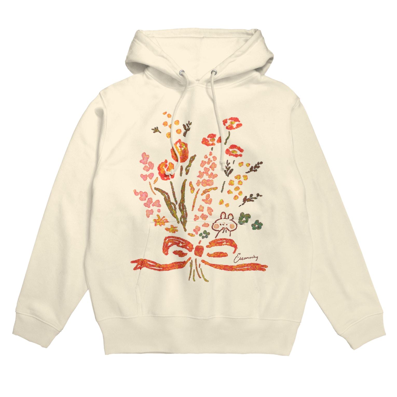 *momochy shop*の花束とうさぎ Hoodies