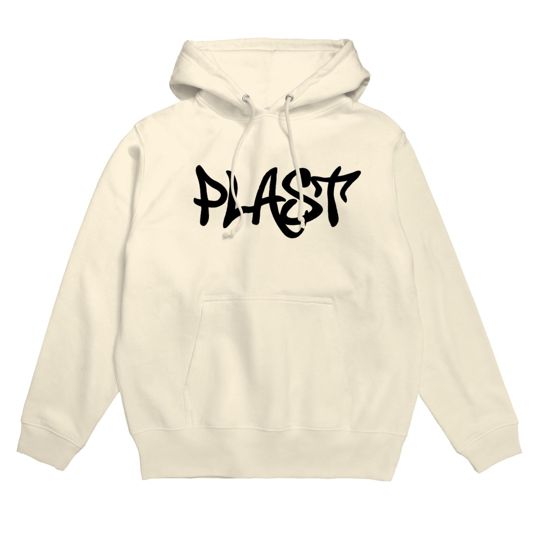 PLASTのStreet base logo Hoodies