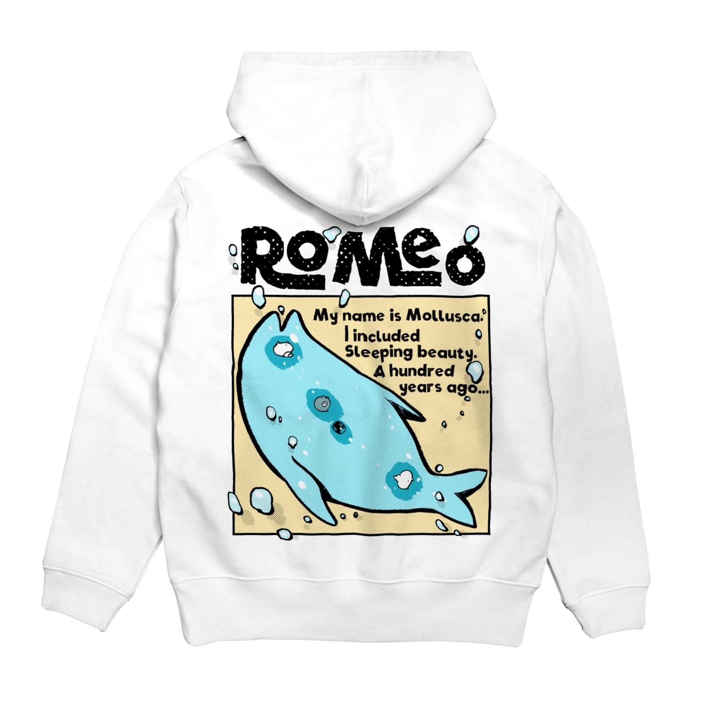 SHOP ROMEO のRomeo My name is mollusca Hoodiesの裏面