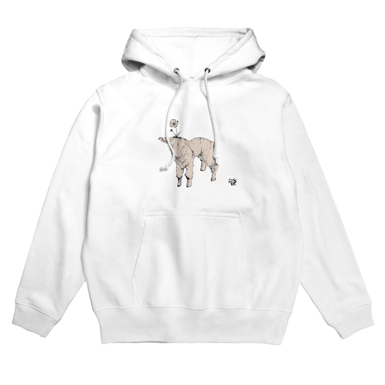 Sinのflower lamb Hoodies