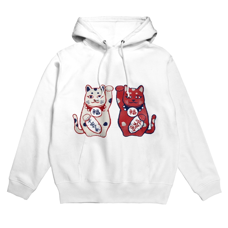 akaneyabushitaの【日本レトロ#01】招き猫 Hoodies