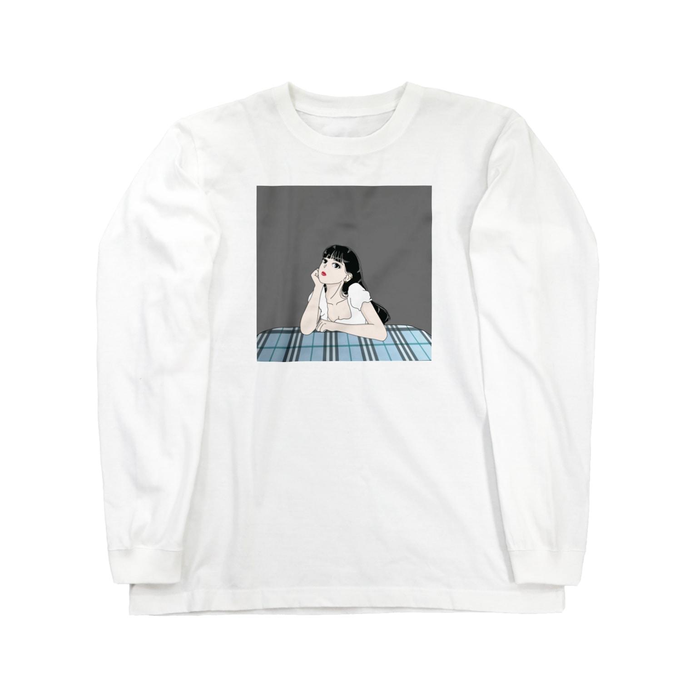 chanchanの黒髪ロングのイケてる彼女 Long sleeve T-shirts