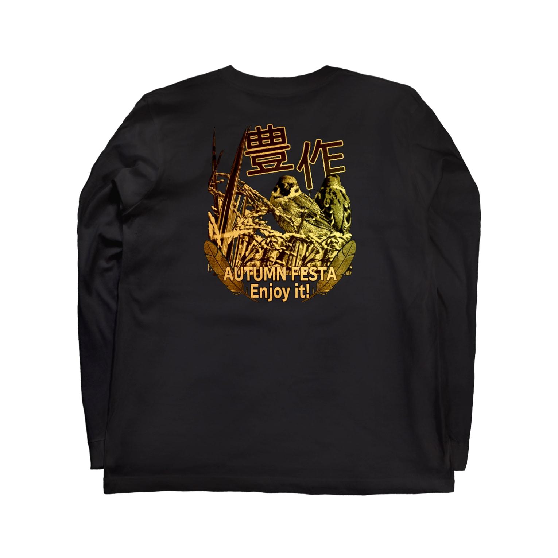 aliveONLINE SUZURI店の東京すずめ Long sleeve T-shirtsの裏面