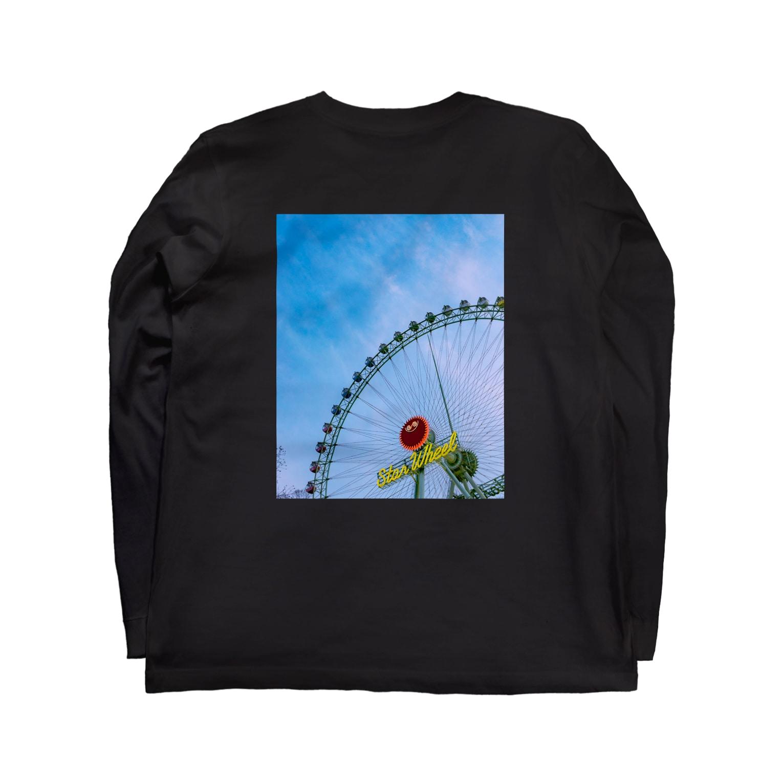 梶原喜明のFerris wheel Long sleeve T-shirts