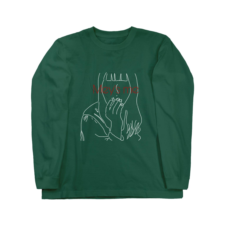 Mey's meのcigarette logo Long sleeve T-shirts