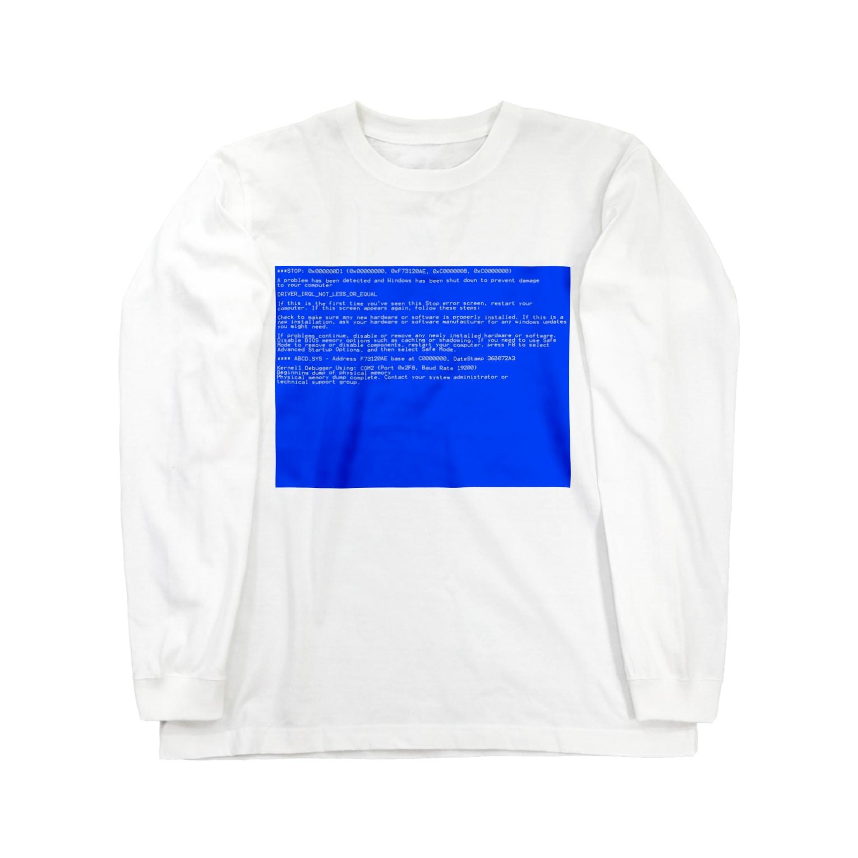 Desktop LabのBSOD(Blue Screen of Death) ロングスリーブTシャツ