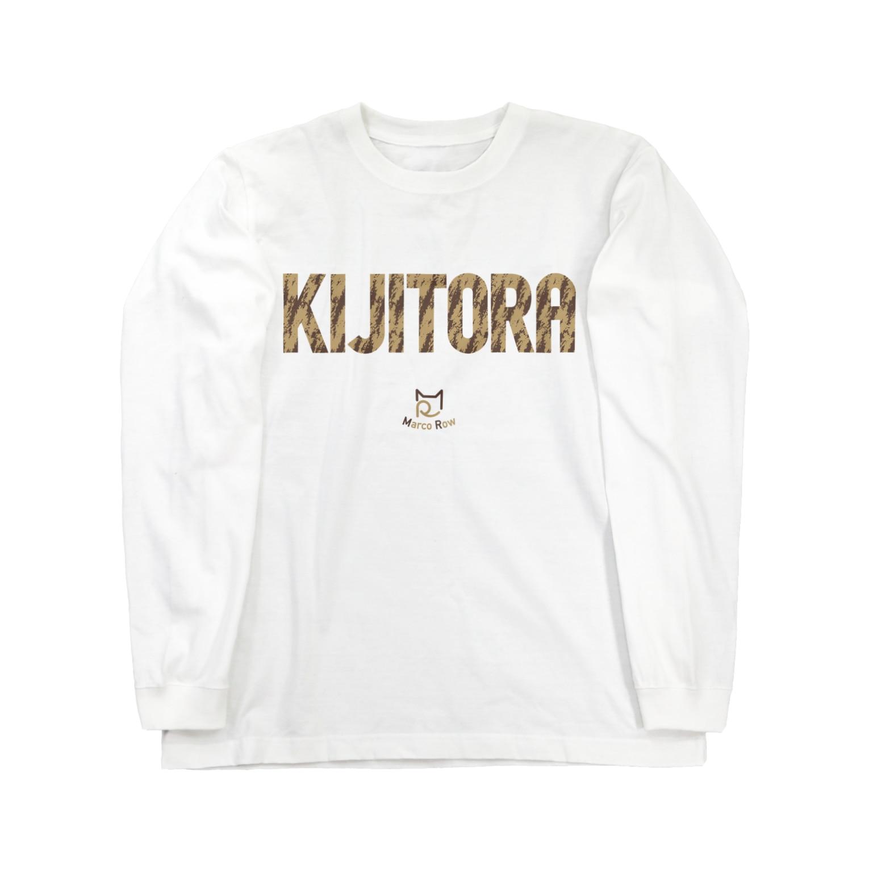 SHOP W SUZURI店のKIJITORA ロングスリーブTシャツ ロングスリーブTシャツ