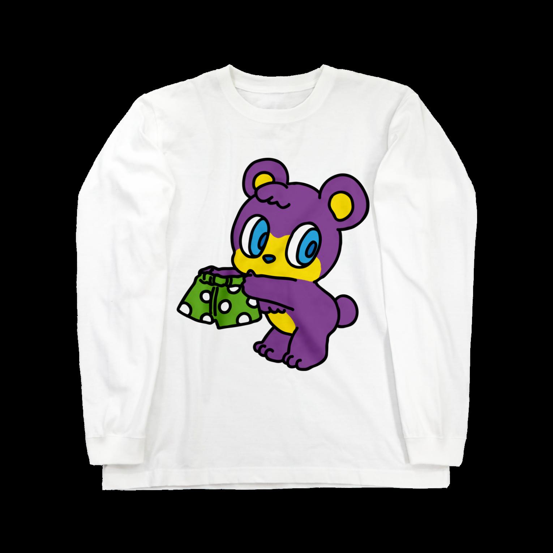 パンツくま   ロングスリーブTシャツ