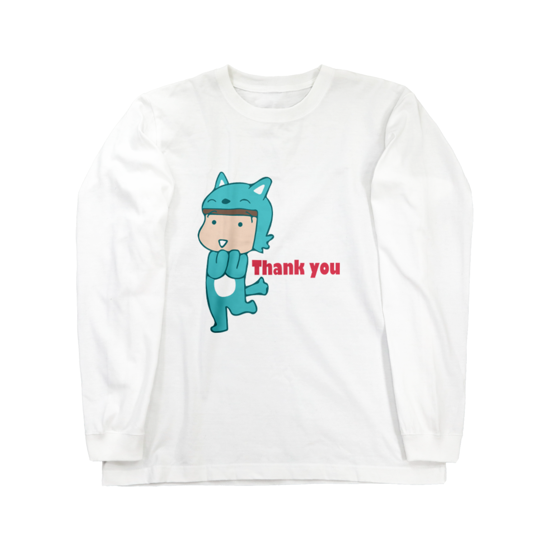 ガウ子ショップのありがとうむっちゃんロングスリーブTシャツ