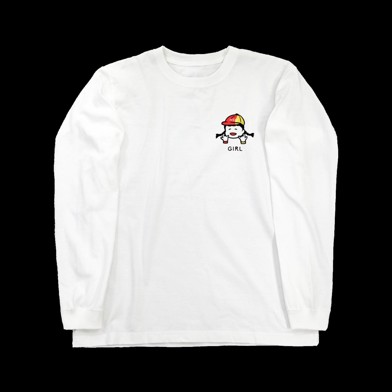 ハイスペックニートのベビーガールTロングスリーブTシャツ