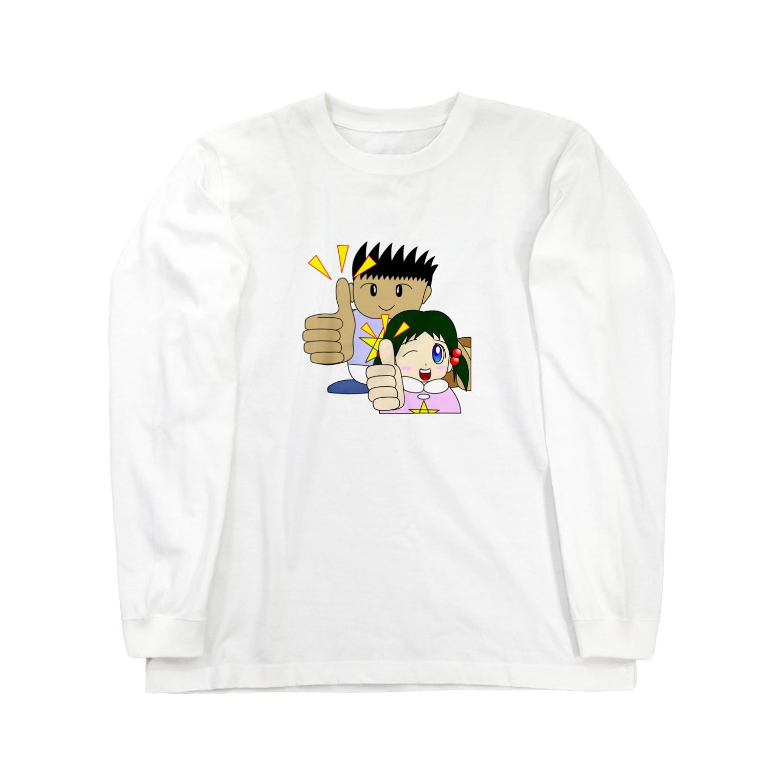 WANPA's STOREのわんぱ君としおりちゃん ロングスリーブTシャツ