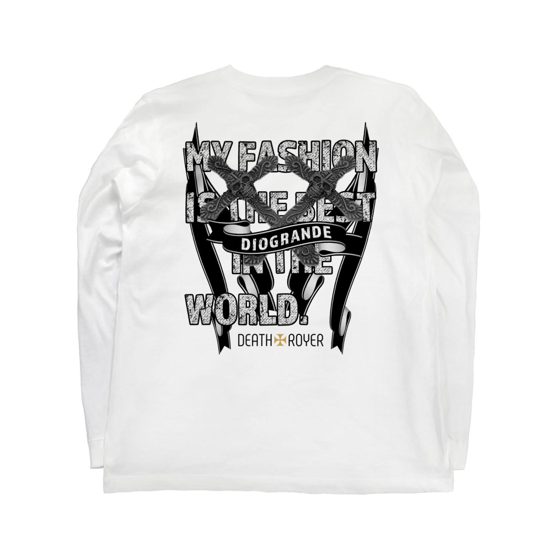 "DIOGRANDE JAPAN SUZURI STOREのDIOGRANDE JAPAN ""DEATH TROYER"" レプリカモデル Long sleeve T-shirtsの裏面"