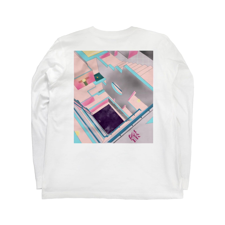 ハナイトのGo with the 風呂(黄ヒヨコ) Long sleeve T-shirtsの裏面