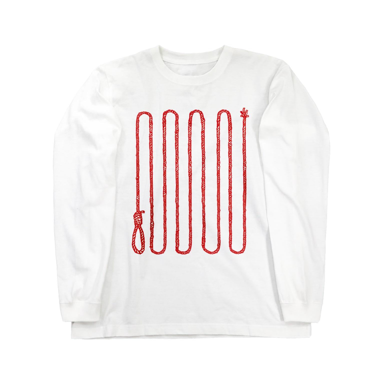 MOGUMO SHOPのくびつりなわ Long sleeve T-shirts