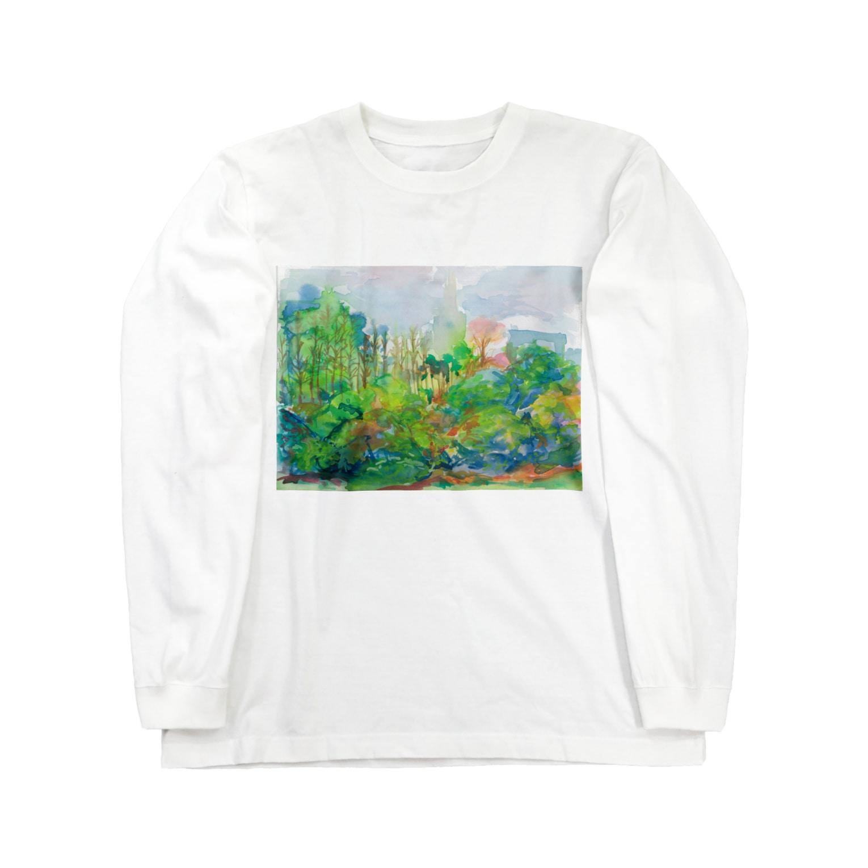 Staの新宿御苑 Long sleeve T-shirts