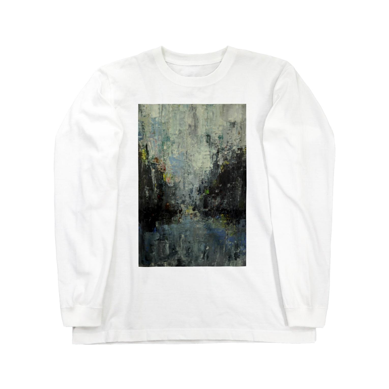 yamawakiのrainy Long sleeve T-shirts