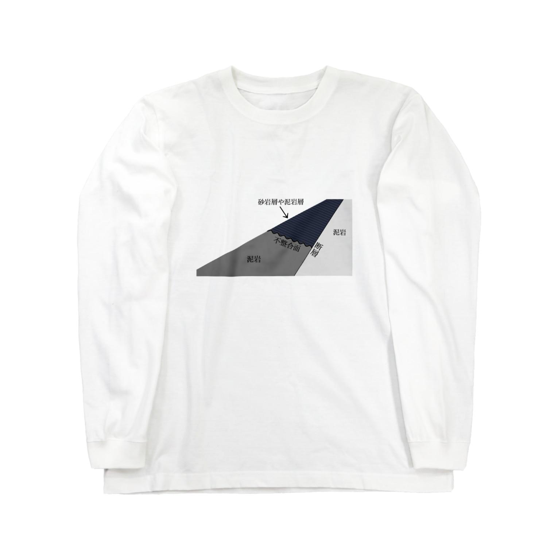 lv44azの地学選択Tシャツのやつ Long sleeve T-shirts