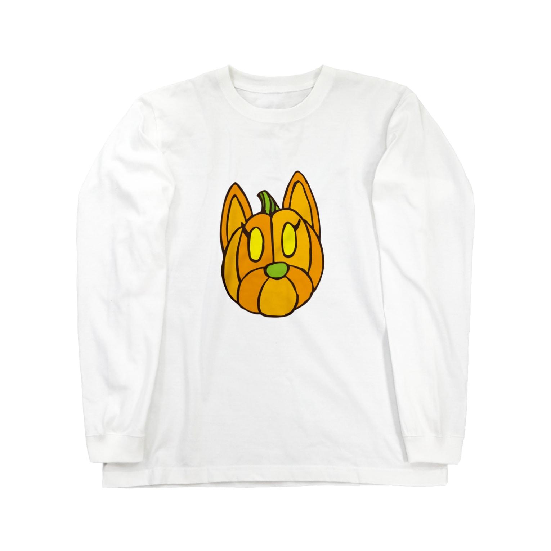 クッキーパーク・スズリショップのクッキーパンプキン Long sleeve T-shirts
