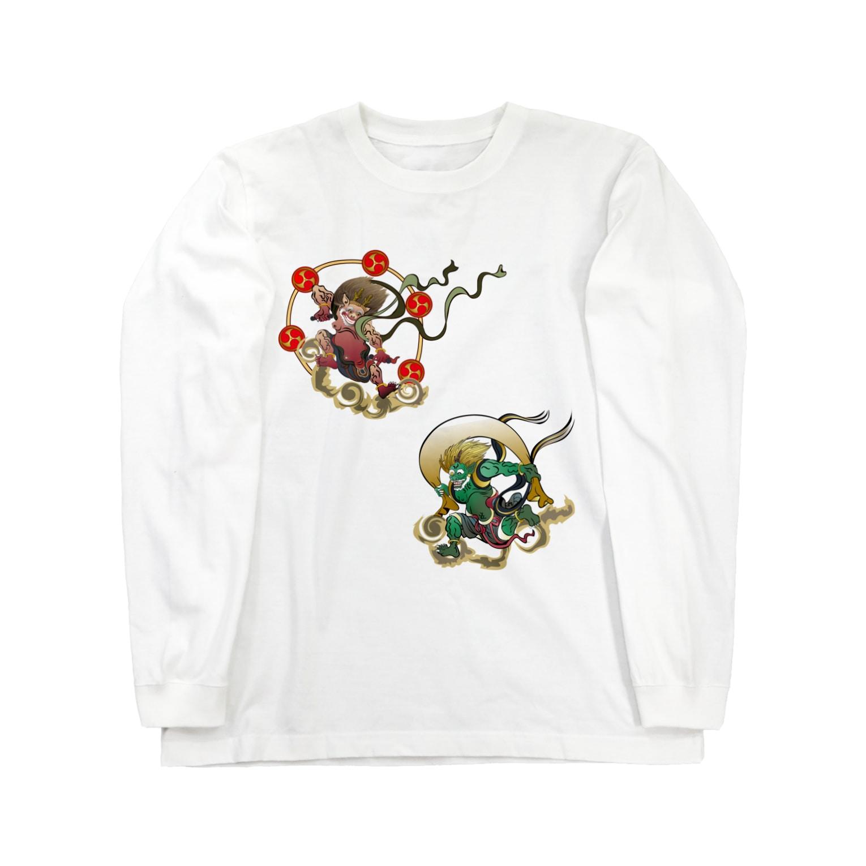 Drecome_DesignのFujin Raijin Long sleeve T-shirts