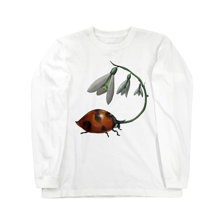 FINCH LIQUEUR RECORDSのすずらんてんとう Long sleeve T-shirts