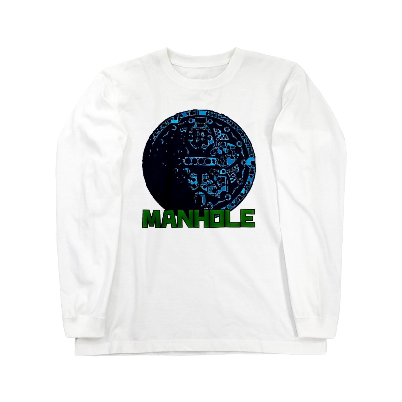 GORIPUSHのマンホール Long sleeve T-shirts