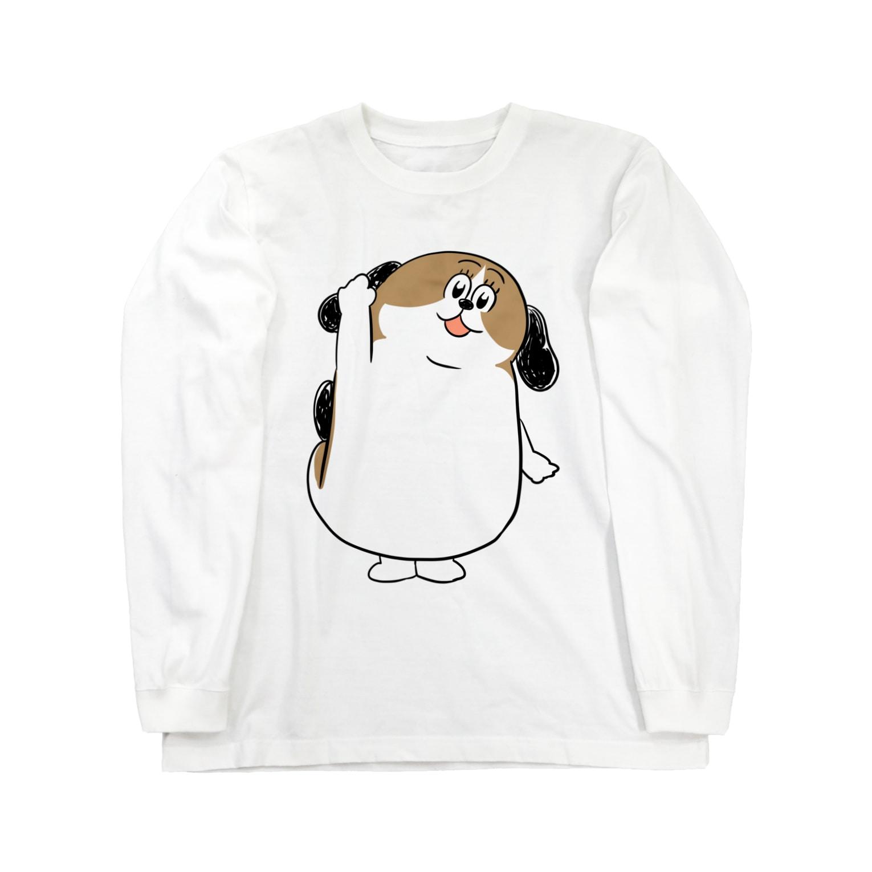マツバラのもじゃまるはーい! Long sleeve T-shirts