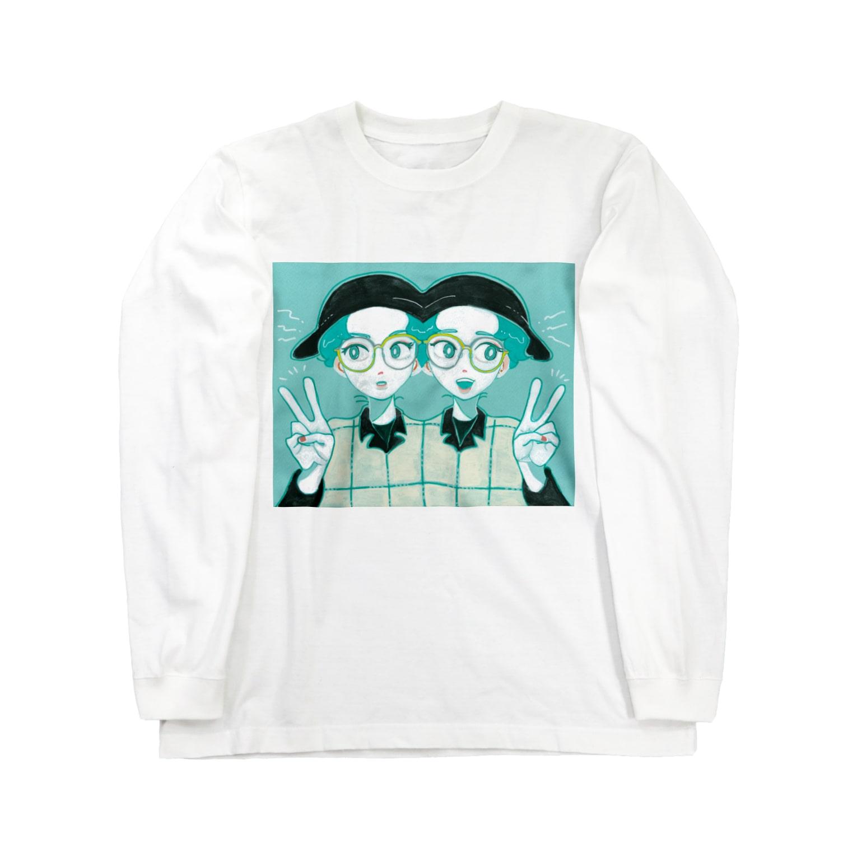 hamのアシメトリーTWINS Long sleeve T-shirts