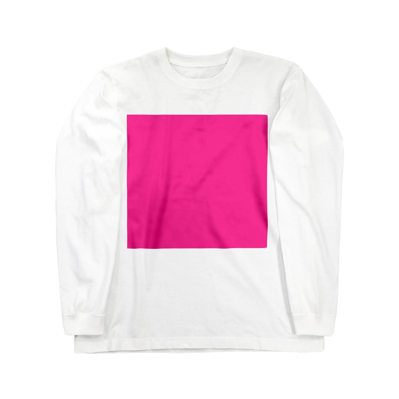 Teatime ティータイムのティータイムピンクブランド ピンクキューブ loveバージョン Long sleeve T-shirts
