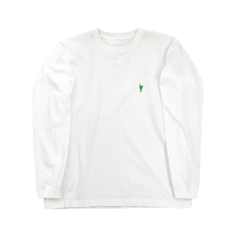 IN-SHOCKのクリームソーダワンポイント Long sleeve T-shirts