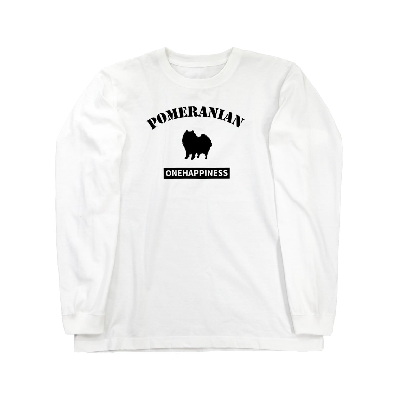 onehappinessのポメラニアン Long sleeve T-shirts