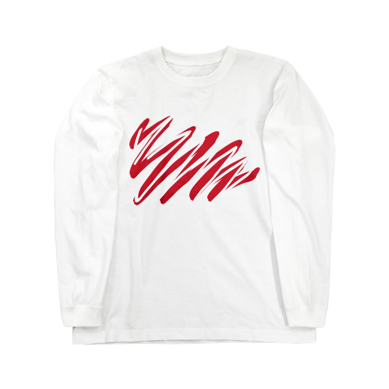 toku109yuのpaint & erase Long sleeve T-shirts