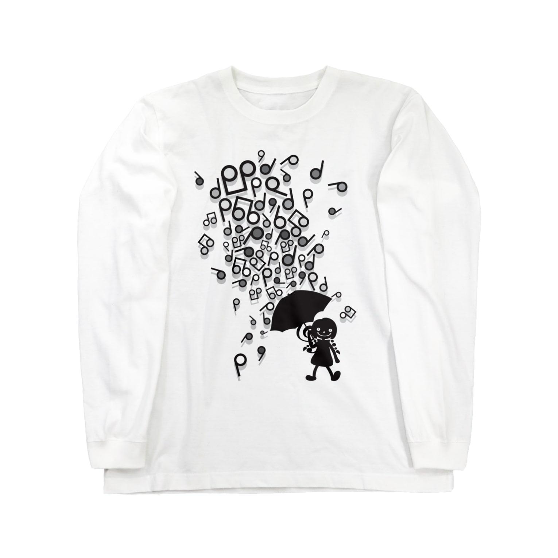 AURA_HYSTERICAのSingin' in the Rain Long sleeve T-shirts