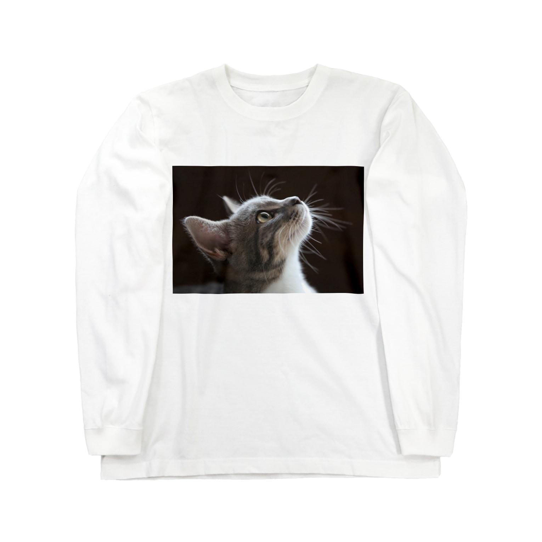 Aiko Nakanoの雨の朝、仔猫の瞳を通せば何でも新鮮。 Long sleeve T-shirts