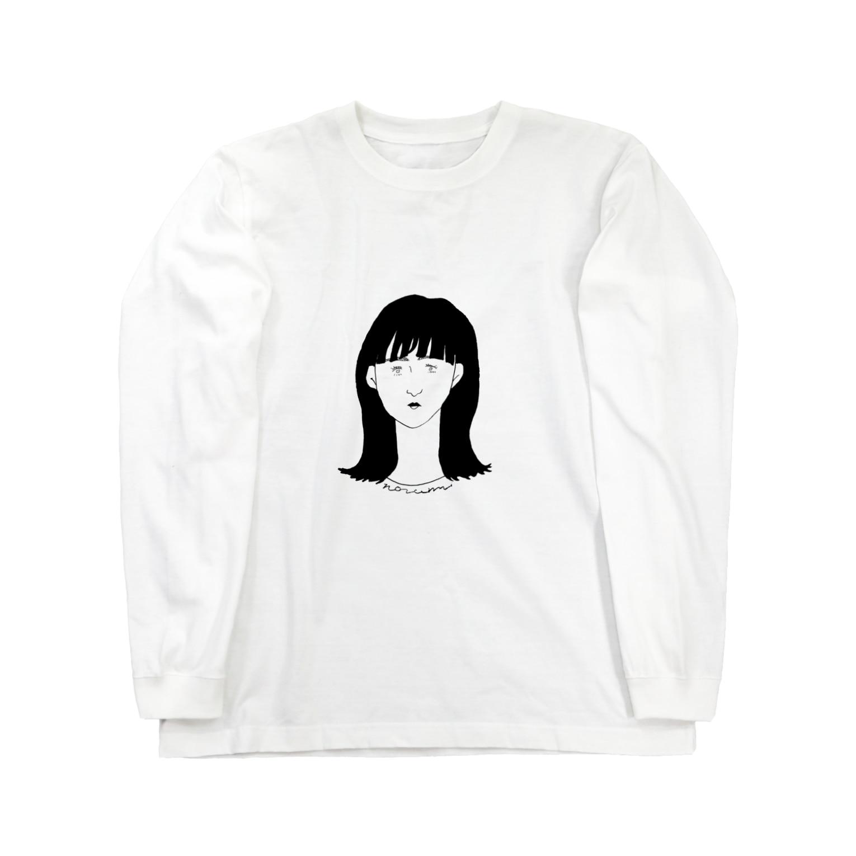 nozomimmの真顔 Long sleeve T-shirts