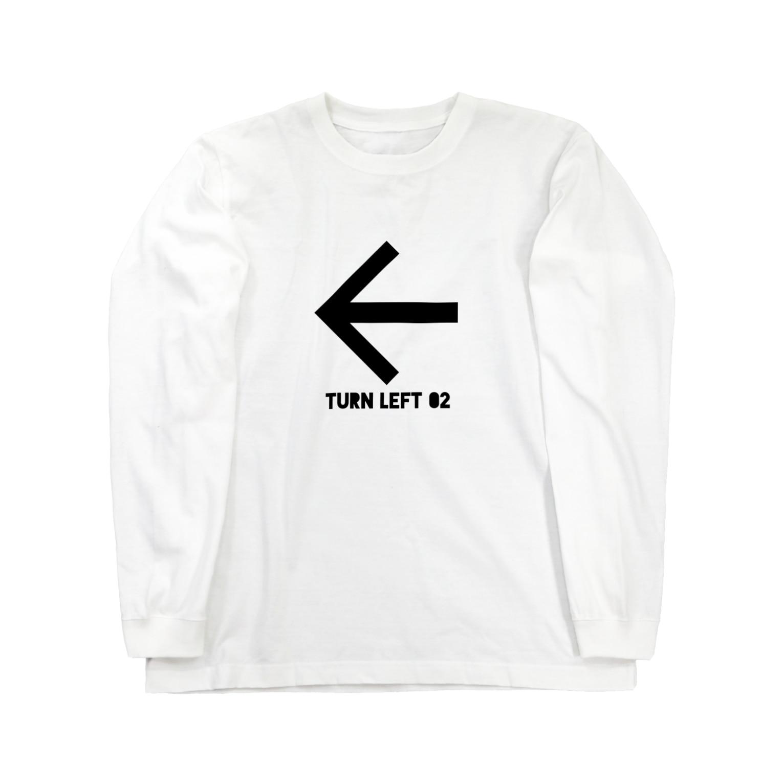 whaisonのTURN LEFT 02 Long sleeve T-shirts