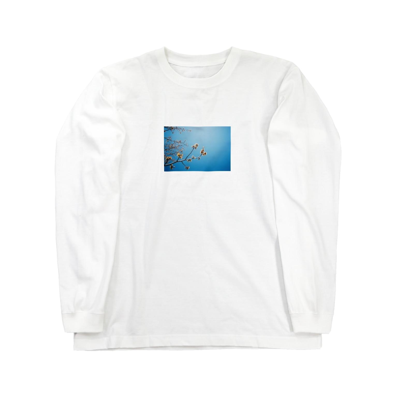 cozcozの春 見上げたら Long sleeve T-shirts